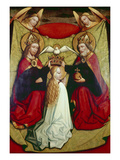 The Coronation of the Virgin Giclee Print by  School of Krakow