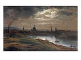 Blick Auf Dresden Bei Abend, 1845 Giclee Print by Johan Christian Clausen Dahl