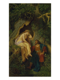 King Krokus and the Dryad. before 1860 () Giclee Print by Moritz Von Schwind