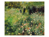 Woman with Parasol in a Garden, 1873 Giclee Print by Pierre-Auguste Renoir