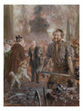 The Visit of a Member of the Supervisory Board in the Steel-Mill, 1900 Posters by Adolph von Menzel