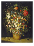 Blumenstrauss. Nach 1607 Reproduction proc&#233;d&#233; gicl&#233;e par Jan Bruegel the Elder