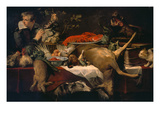 Pantry with Servant (Kitchen Scene) Prints by Frans Snyders