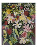 Carpet of Flowers, 1913 Giclee Print by August Macke