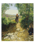 The Awaited One, 1850 or 1860 Giclee Print by Ferdinand Georg Waldmüller