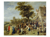 Peasants Merry-Making (Village Festival), 1637 Giclee Print by David Teniers