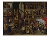 Ansicht Der Galerie des Erherzogs Leopold Wilhelm in Bruessel (I.) Poster by David Teniers