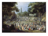 The Funfair Gicl&#233;e-Druck von David Vinckboons