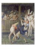 Tumblers (Saltimbanchi, Colombina E Pulcinella) Giclee Print by Giovanni Domenico Tiepolo