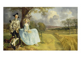 Mr and Mrs Andrews, about 1750 Giclee-trykk av Gainsborough, Thomas