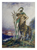 Dead Poet Borne by Centaur, about 1890 Poster by Gustave Moreau