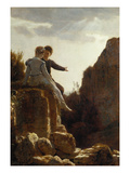 The Wedding Journey, about 1876 Poster by Arnold Bocklin