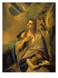 Magdalena Atoning for Her Sins, about 1580 Print by  El Greco