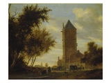 The Watchtower at the Country Road. Probably around 1660 Giclee Print by Salomon van Ruysdael