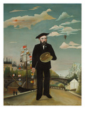 Self Portrait with Palette, 1890 Poster by Henri Rousseau