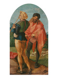 Jabach-Altarpiece: Piper and Drummer, 1503/05 Art by Albrecht Dürer