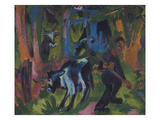 Kuehe Im Wald, 1920/21 Prints by Ernst Ludwig Kirchner