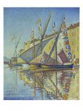 Sailboats in the Harbour of St.Tropez, 1893 Giclee Print by Paul Signac