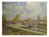 The Lock of Moret, 1882 Giclee Print by Alfred Sisley