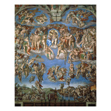 The Last Judgement, 1534-41 Wydruk giclee autor Michelangelo Buonarroti