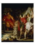 Mucius Scaevola before Porsenna, 1621 (Rubens Together with A. Van Dyck) Giclee Print by Peter Paul Rubens