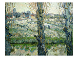Orchard in Blossom with a View of Arles, 1889 Posters by Vincent van Gogh