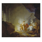 Orpheus Recovers Eurydice from the Underworld Reproduction proc&#233;d&#233; gicl&#233;e par Friedrich Heinrich Fuger
