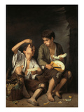 Beggar Boys Eating Grapes and Melons, 1645/46 Giclee Print by Bartolomé Estéban Murillo