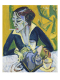 Erna Mit Zigarette, 1913 Prints by Ernst Ludwig Kirchner
