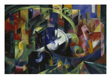 Painting with Cattle I, 1913/1914 Giclee Print by Franz Marc