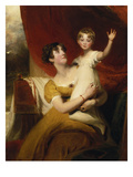 Lady Orde with Her Daughter Anne, 1810/12 Prints by Thomas Lawrence