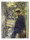 Veterinary Dr. Reindl in the Gazebo, about 1890 Giclee Print by Wilhelm Leibl