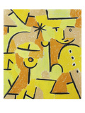 Figure on Yellow, 1937 Reproduction procédé giclée par Paul Klee