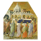 The Burial of the Virgin Mary Giclée-tryk af Duccio di Buoninsegna