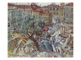 Building under Construction in Monte Carlo, 1914 Giclee Print by Lovis Corinth