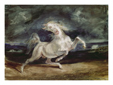 Horse Shying at Flash of Lightning, 1824 Giclee Print by Eugène Delacroix