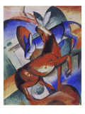 Horse and Donkey, 1912 Poster by Franz Marc