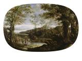 Landschaft Mit Flussszene, um 1590 Print by Annibale Carracci