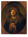 The Mother of the Artist as Prophet Hannah, 1639 Print by  Rembrandt van Rijn