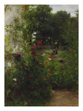Leibl's Garden at Aibling. Mid 1880S () Giclee Print by Johann Sperl
