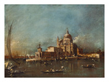 View of Santa Maria Della Salute and the Dogana, about 1780 Print by Francesco Guardi