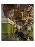 Kirchenvaeteraltar.Re.Fluegel Aussen Unten: dem Hl.Sigisbertus Erscheint Ein Engel Prints by Michael Pacher