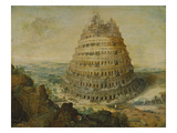 The Building of the Tower of Babel, 1568 Giclée-Druck von Lucas van Valckenborch