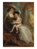 Helene Fourment with Her Son Frans, about 1635 Giclee Print by Peter Paul Rubens
