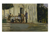 Dinner in Front of Badenburg in the Park of Nymphenburg Castle, 1909 Prints by Max Slevogt