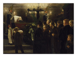 Public Viewing of the Corpse of Kaiser Wilhelm I. in the Dome in Berlin on 13./14.3.1888 Giclee Print by Arthur Kampf