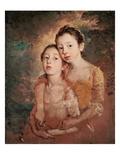 Margareth and Mary Gainsborough Giclee-trykk av Gainsborough, Thomas