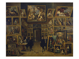 Archduke Leopold Wilhelm in His Picture Gallery in Brussels, about 1647 Prints by David Teniers the Younger