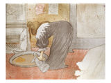 Woman at the Tub from 'Elles', 1896 Giclee Print by Henri de Toulouse-Lautrec