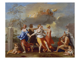 Il Ballo Della Vita Humana (A Dance to the Music of Time), 1638-1640 for Clemens Ix Giclée-Druck von Nicolas Poussin